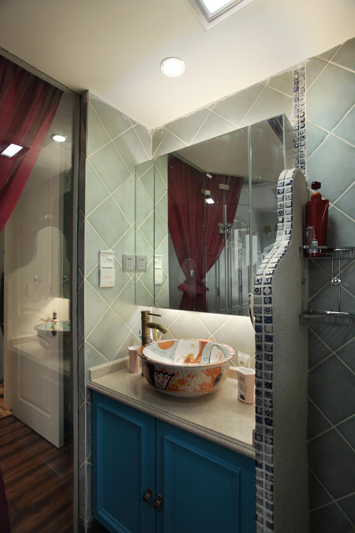 85平地中海风格家卫生间实景图