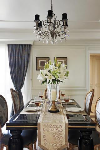 140平欧式装修餐厅背景墙图片