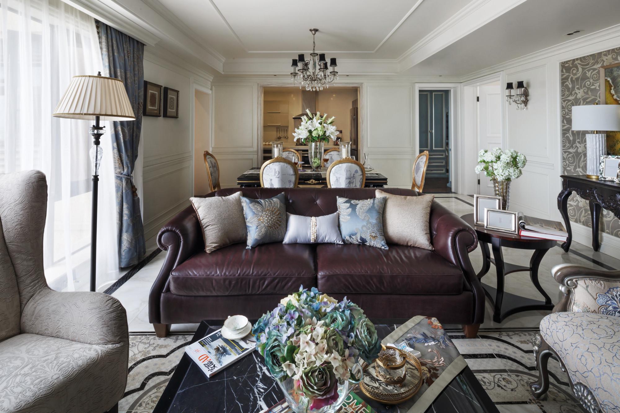 140平欧式装修沙发图片