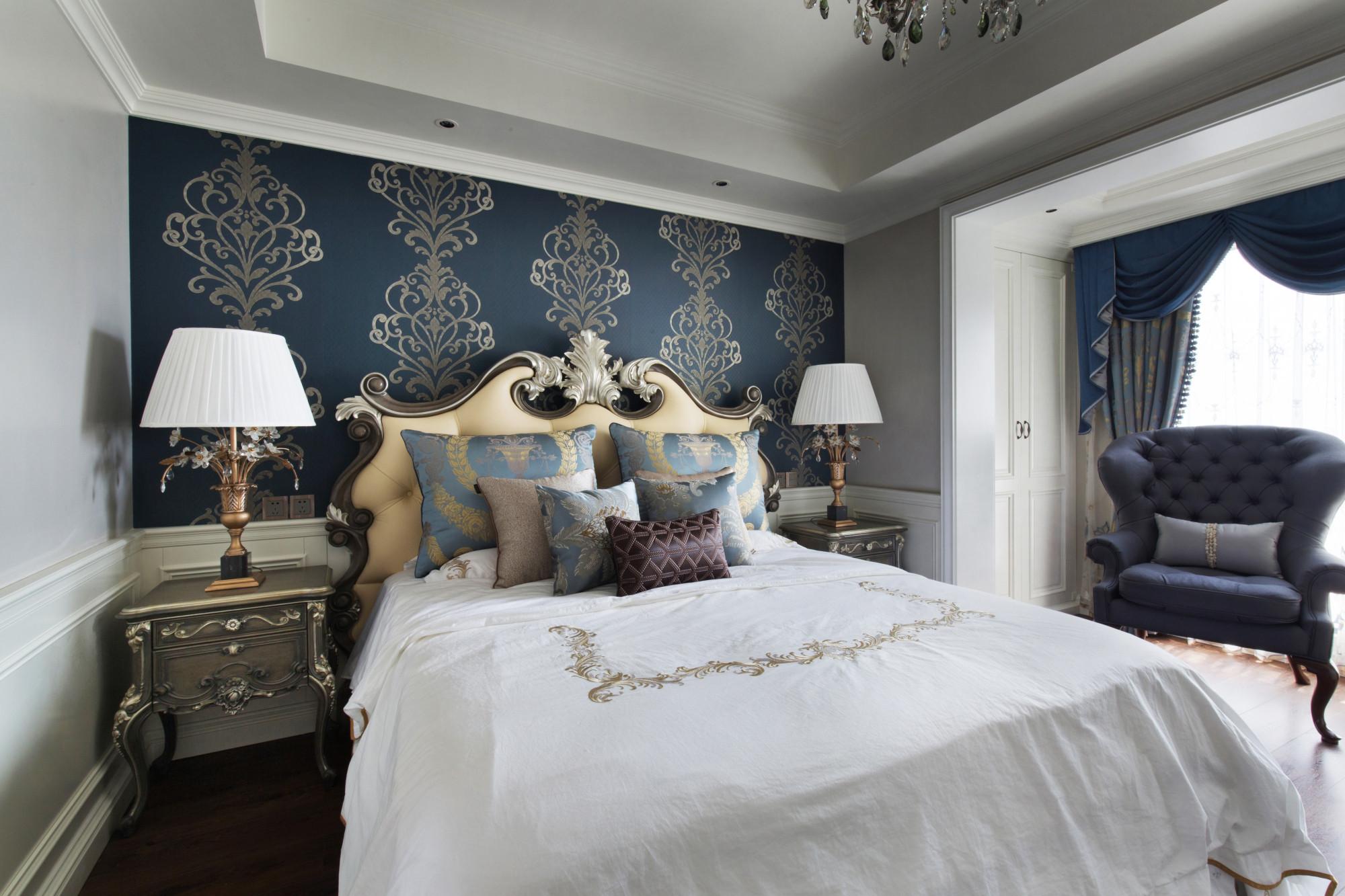 140平欧式装修卧室效果图