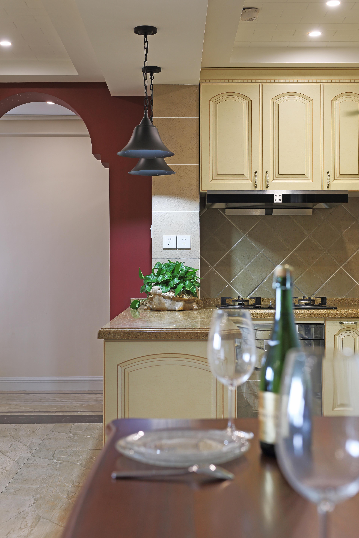 110㎡三居室美式装修吊灯设计