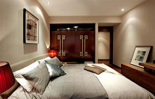 新中式风格样板间装修衣柜设计