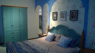 地中海两居室装修主卧设计图
