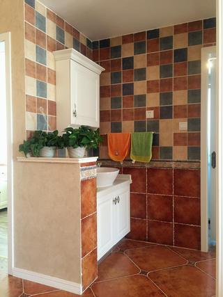 小户型简美两居装修洗手台设计图
