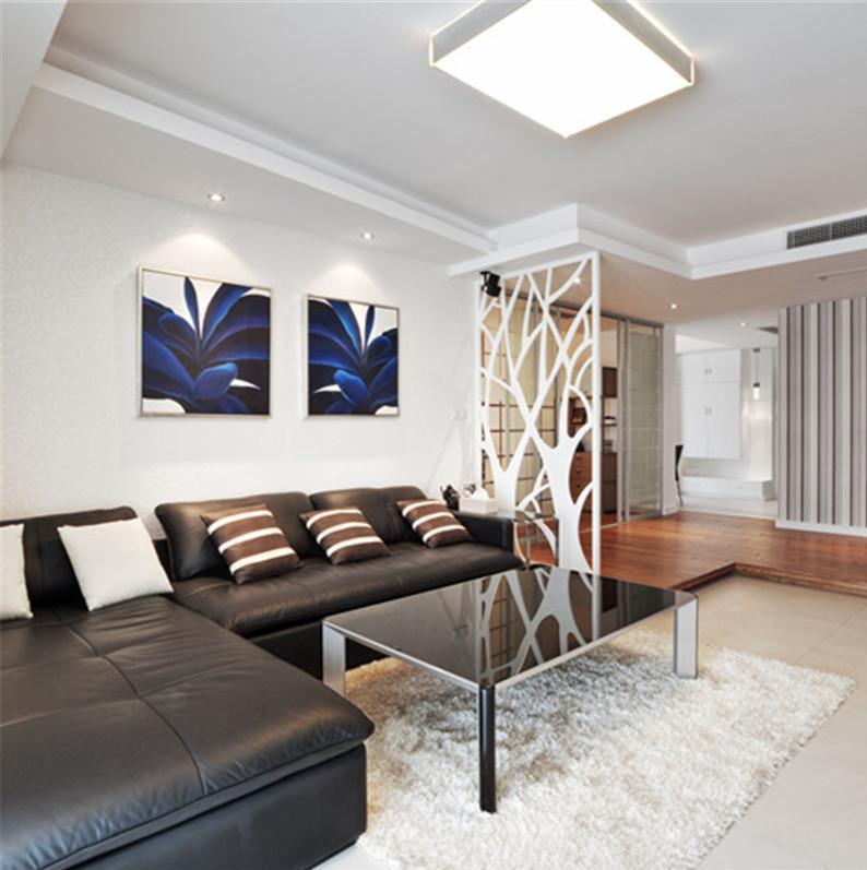 三居室现代简约装修沙发背景墙图片