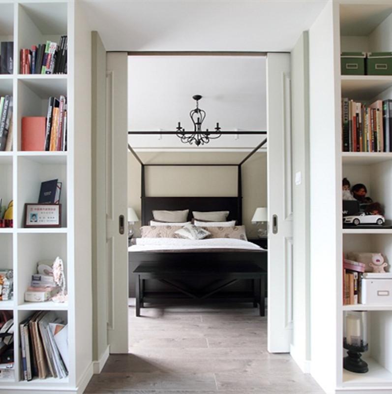 120平现代美式设计书柜图片