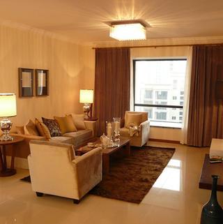 80平新中式两居客厅装修效果图