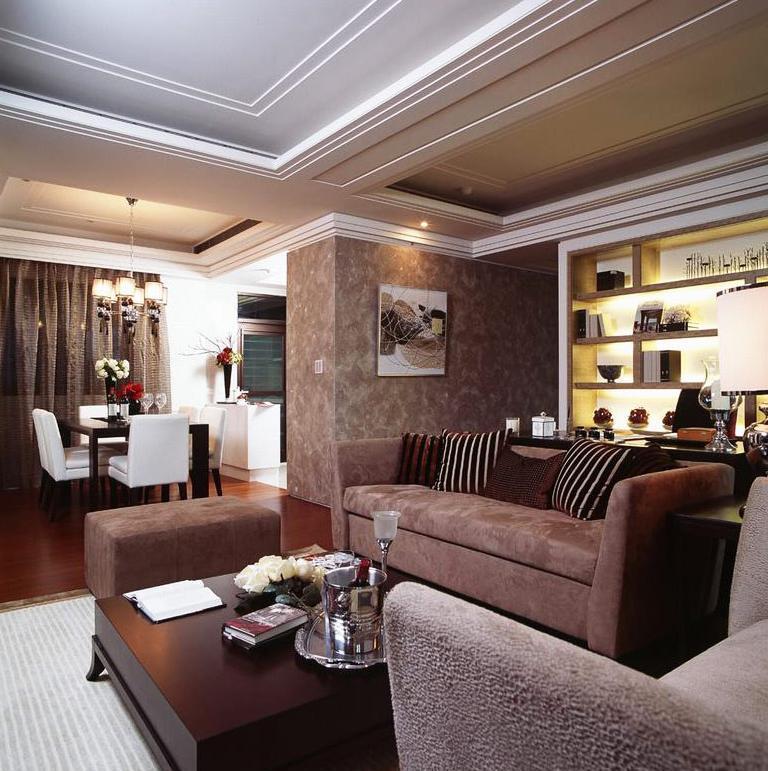 100平三居室装修沙发图片