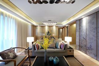 新中式样板房装修沙发图片