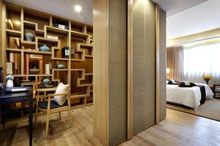 新中式样板房装修书房设计