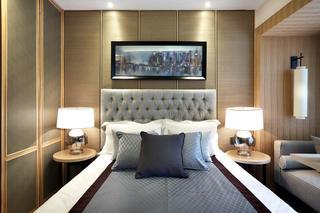 新中式样板房装修床头软包设计