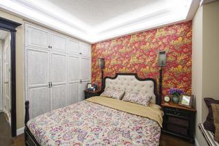 123平美式三居室装修卧室搭配图