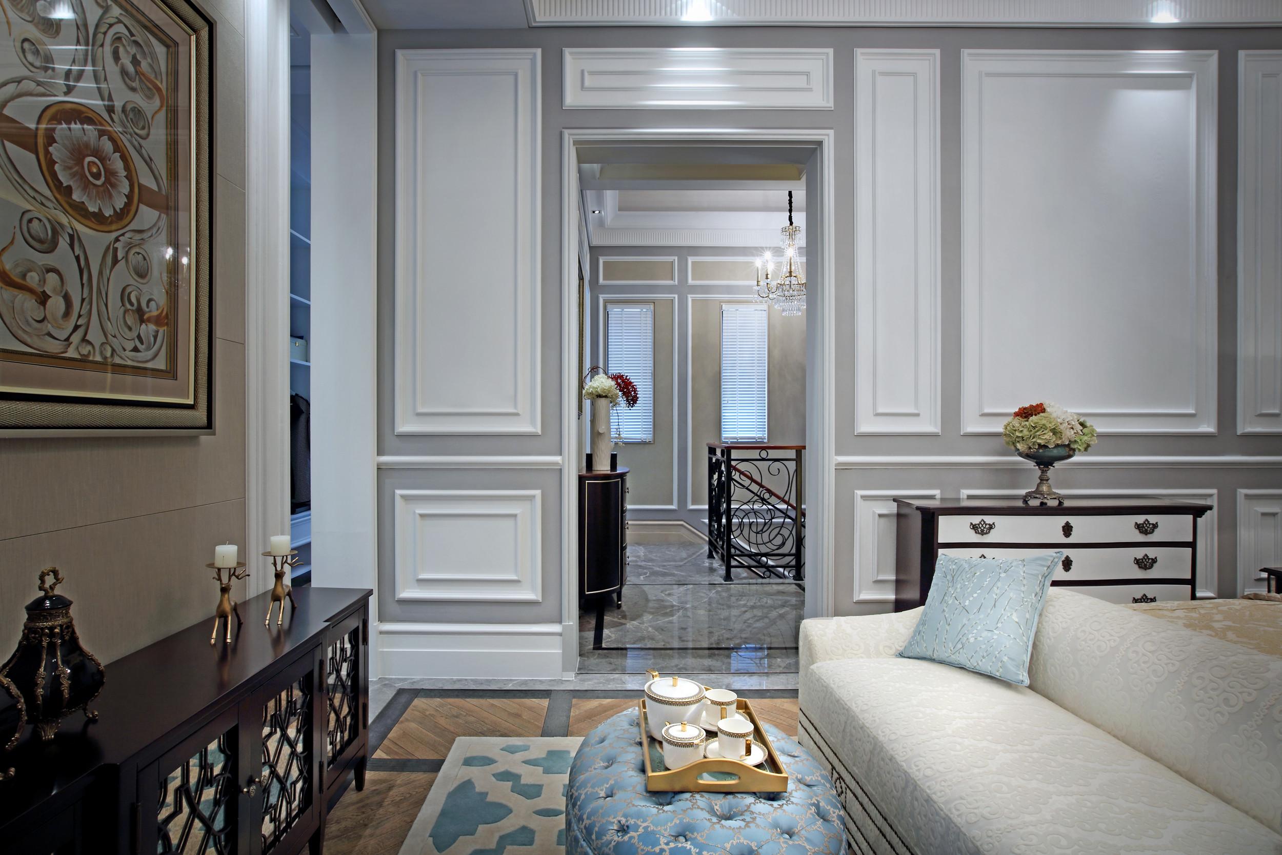 高贵奢华欧式别墅装修起居室设计图