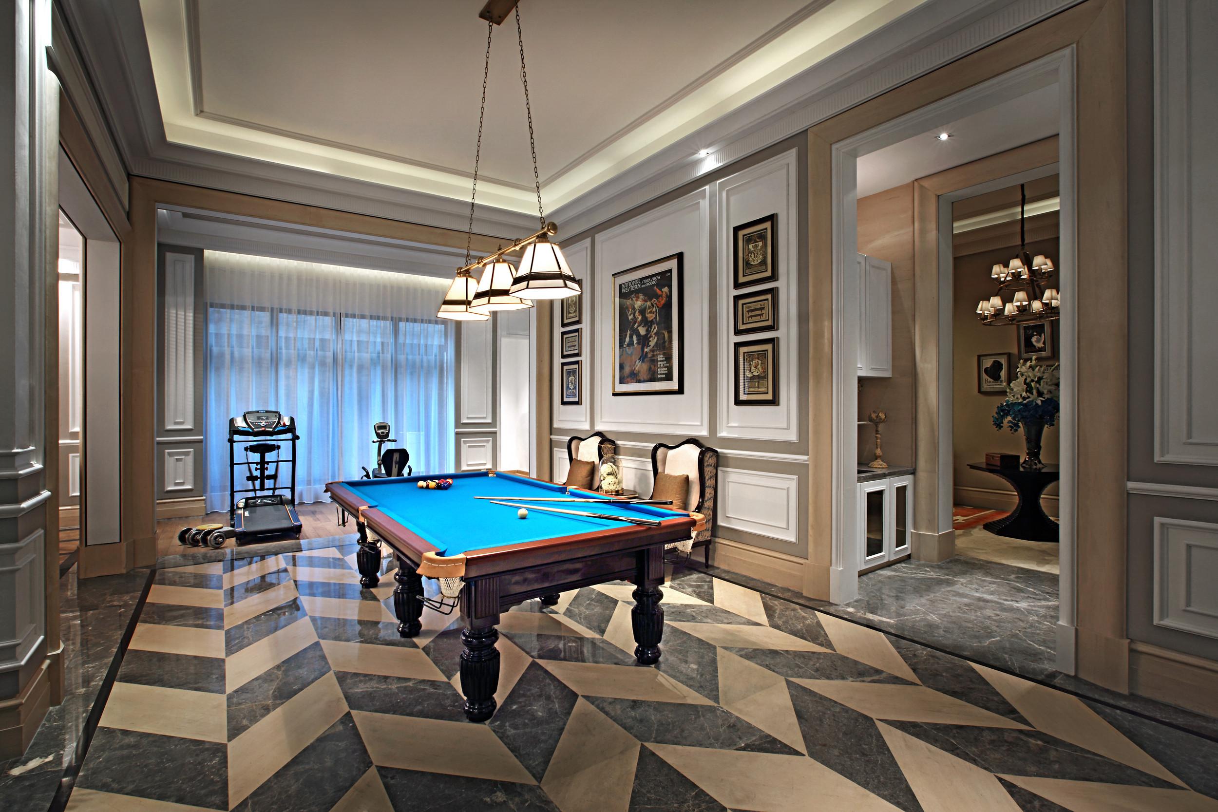 高贵奢华欧式别墅装修地下室效果图