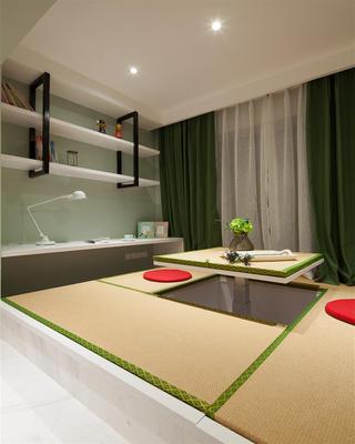 168㎡混搭四居室装修榻榻米书房设计
