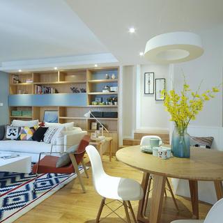 80㎡北欧两居室装修设计图