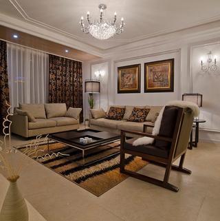 130平现代简约三居装修设计图