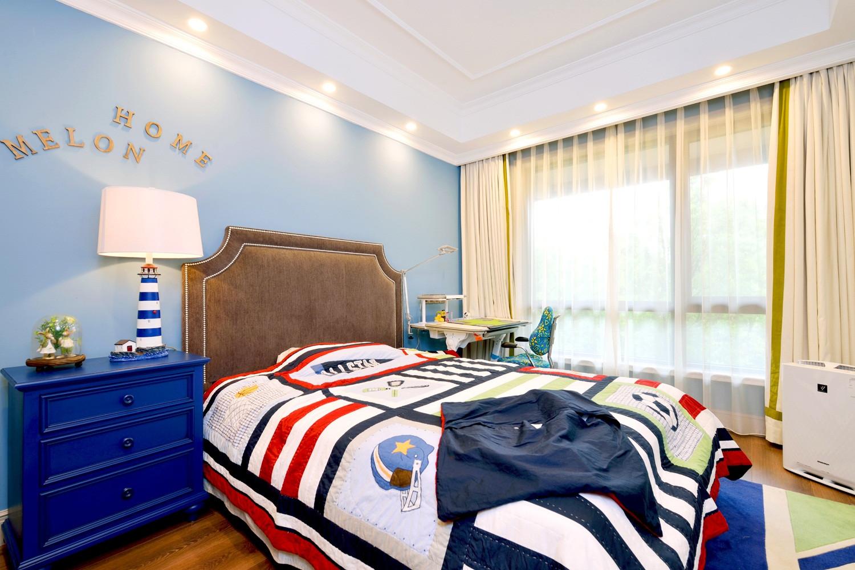 自然温馨美式别墅装修儿童房效果图