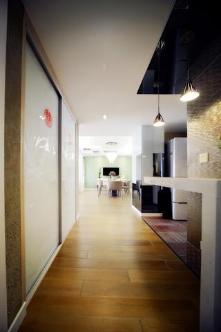 100平现代简约两居室装修吧台设计