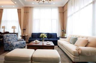 大户型简约美式风格装修沙发图片