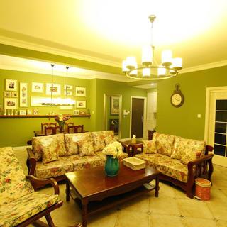 110平美式三居装修设计图