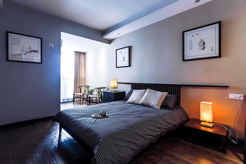 160㎡新中式风格装修卧室背景墙图片