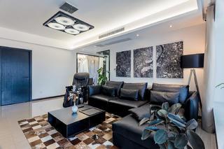 130平现代风装修沙发图片