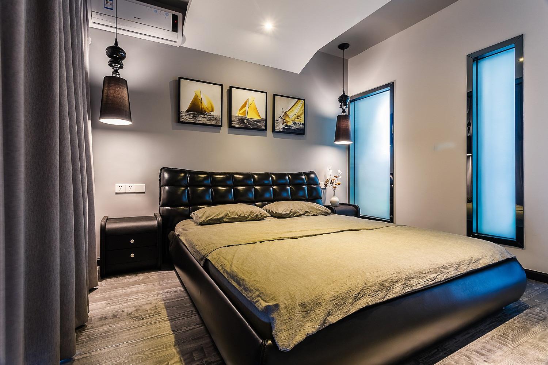 130平现代风装修卧室背景墙图片