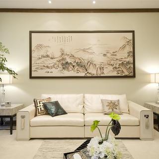 90平现代中式三居装修设计图