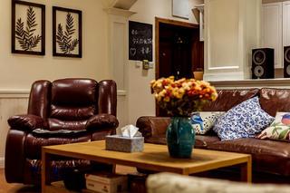 三居室美式公寓装修客厅小景
