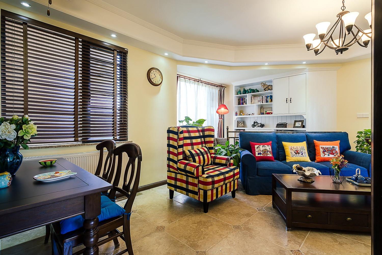 100平混搭风格家沙发图片