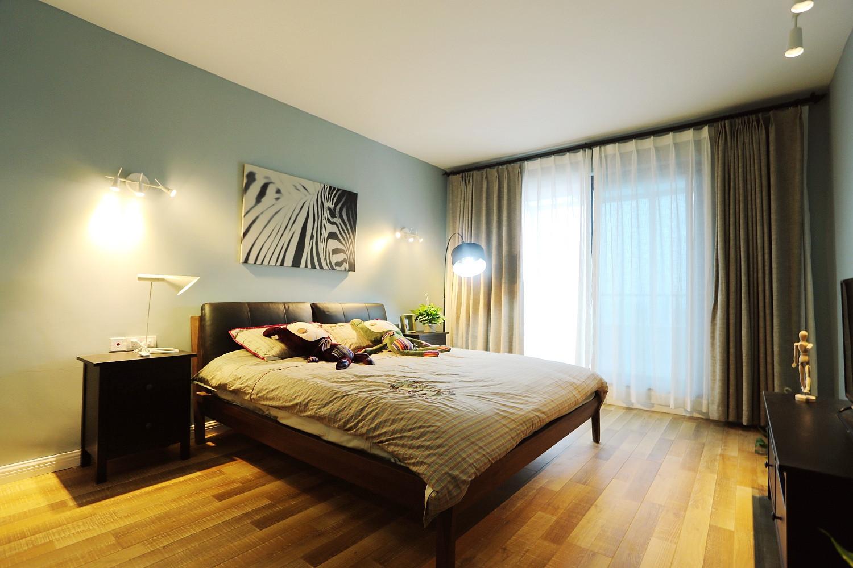 北欧风跃层装修卧室布置图