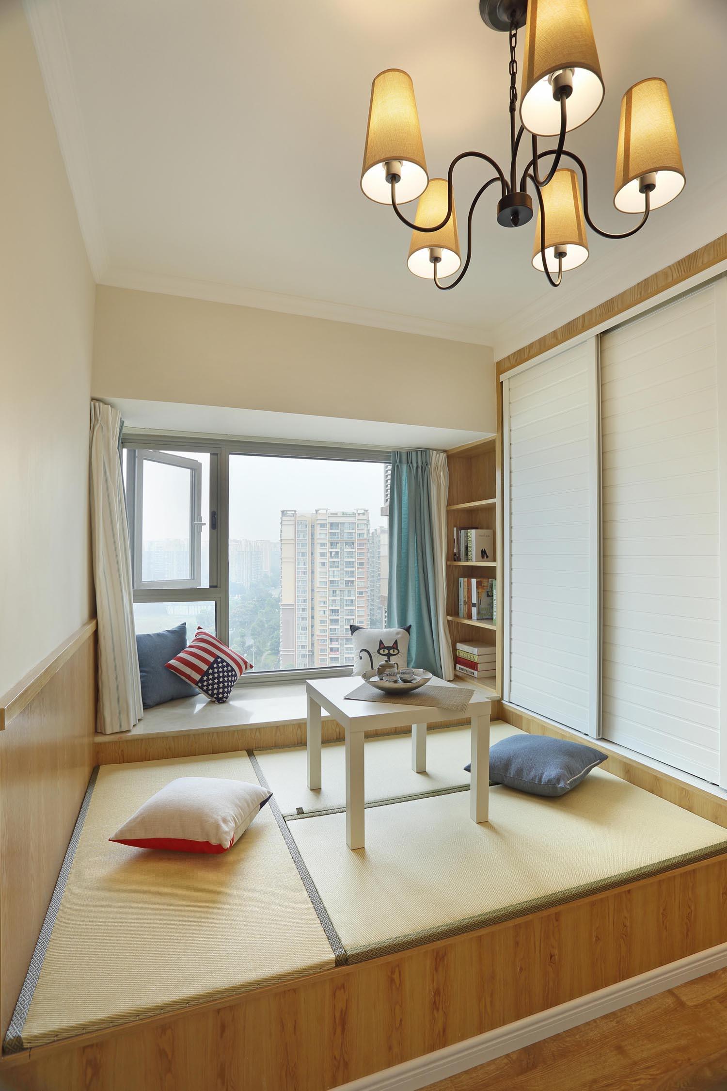 80平两居室装修榻榻米设计