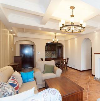 105㎡美式三居室装修效果图