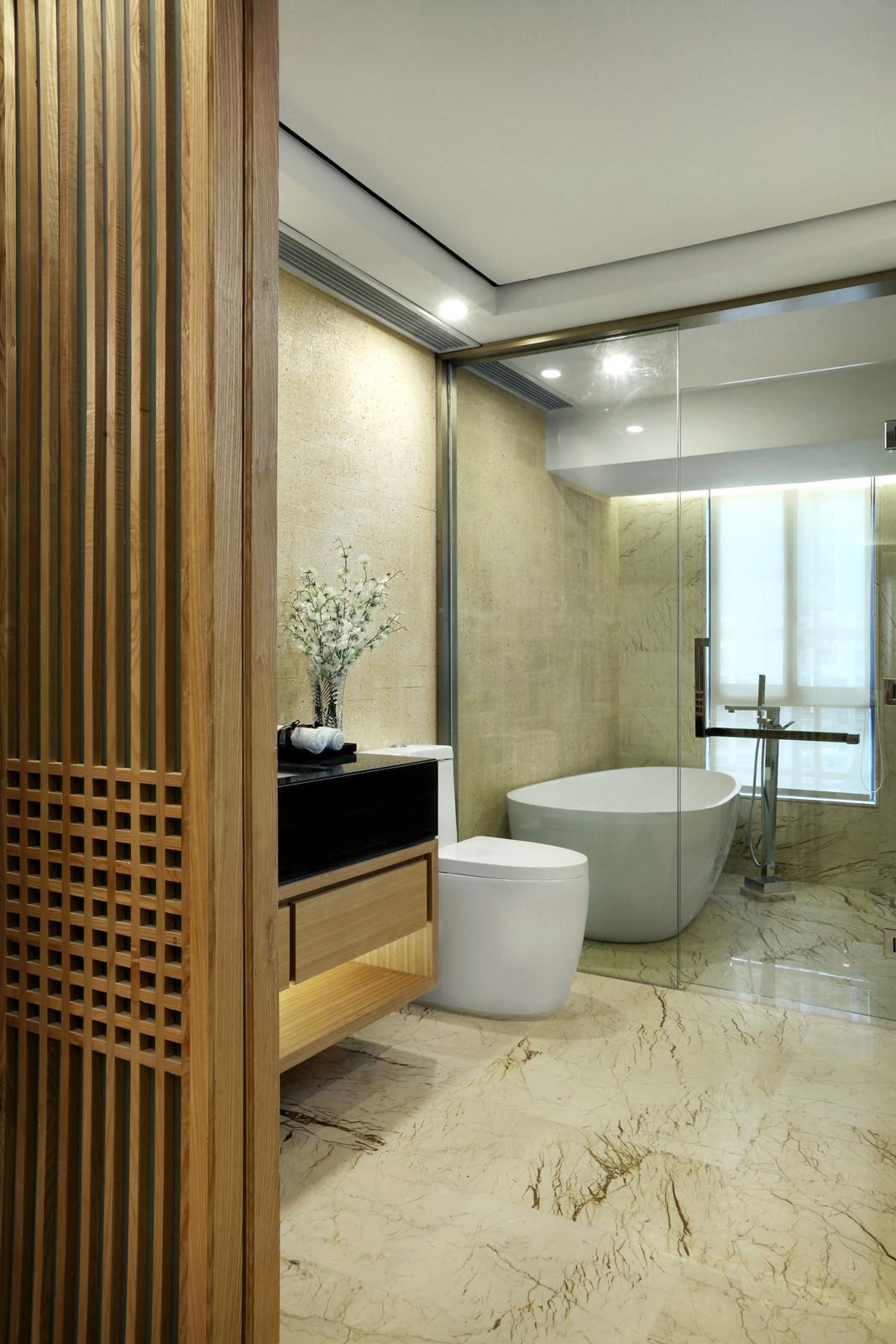 新中式样板房装修卫生间效果图
