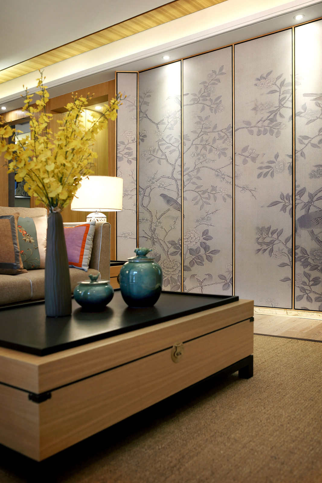 新中式样板房装修客厅小景