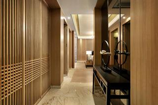 新中式样板房装修玄关走廊