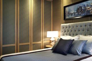 新中式样板房装修床头一角