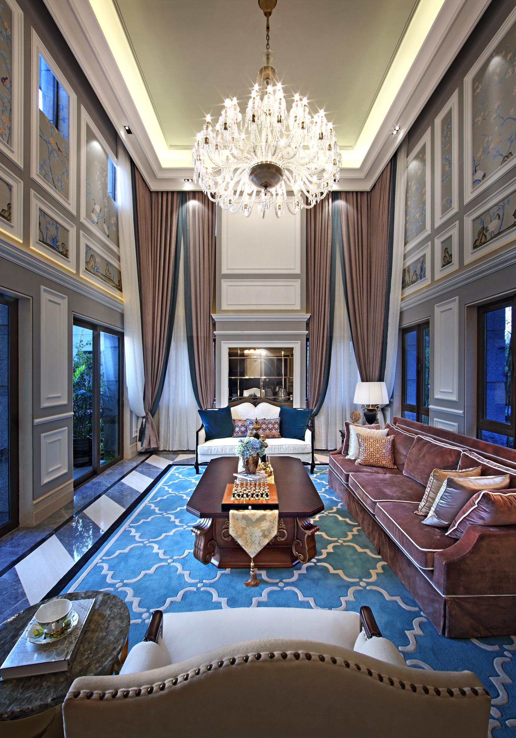高贵奢华欧式别墅装修客厅效果图