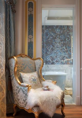法式别墅装修卧室休闲一角
