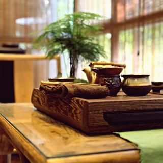 新中式三居之家茶台特写