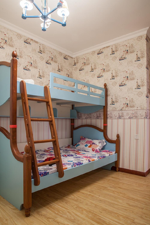 小户型彩色宜家混搭装修儿童床图片
