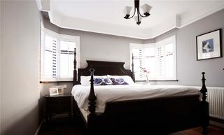 120㎡三居室美式装修卧室搭配图