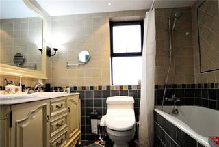 120㎡三居室美式装修卫生间搭配图