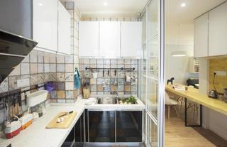 北欧风格三居装修厨房实景图