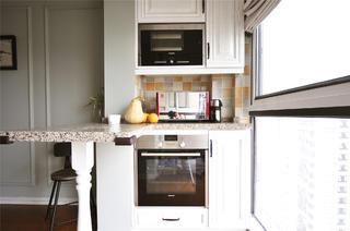 140平复古美式三居装修吧台设计