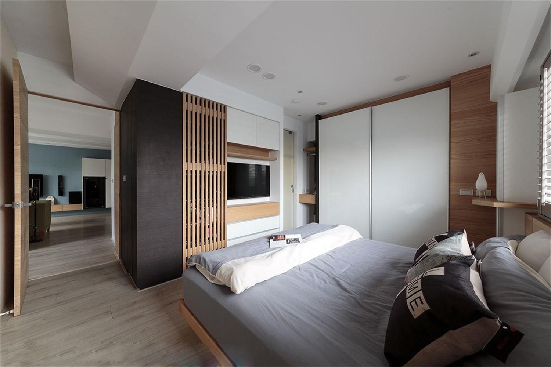 现代简约二居之家卧室搭配图