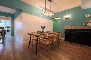 混搭风格三居室装修餐厅设计图