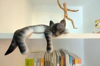 混搭风格三居室装修书架摆件