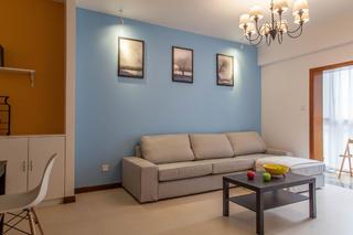 简约两居装修沙发背景墙图片